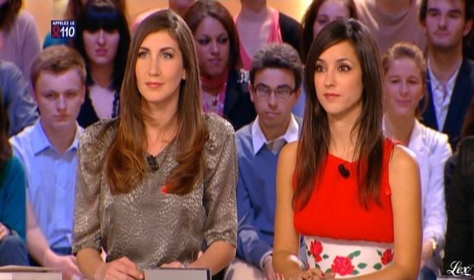 Elise Chassaing et Tania Bruna-Rosso dans le Grand Journal De Canal Plus. Diffusé à la télévision le 26/03/10.