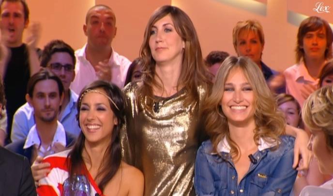 Elise Chassaing, Tania Bruna-Rosso et Pauline Lefèvre dans le Grand Journal De Canal Plus. Diffusé à la télévision le 25/06/10.