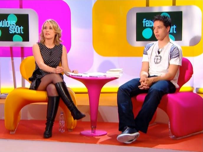 Isabelle Moreau dans Fabulous Sport. Diffusé à la télévision le 17/05/08.