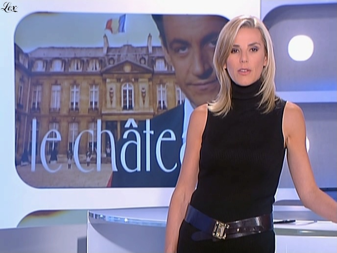 Laurence Ferrari dans Dimanche Plus. Diffusé à la télévision le 22/06/08.