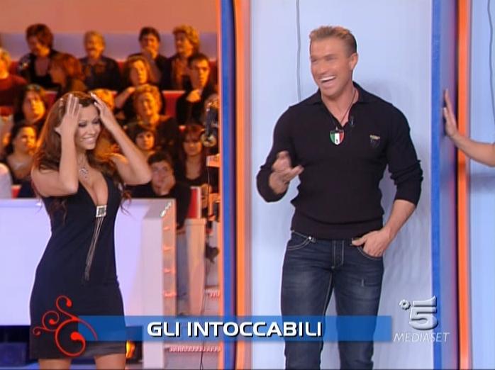 Sara Varone dans Buona Domenica. Diffusé à la télévision le 18/11/07.