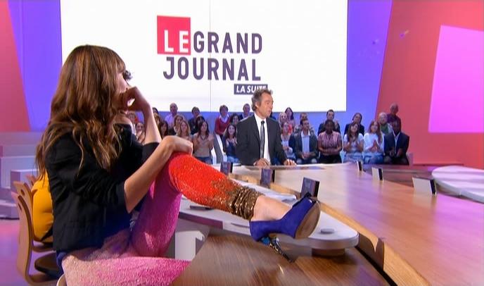 Tania Bruna-Rosso dans le Grand Journal De Canal Plus. Diffusé à la télévision le 12/09/08.