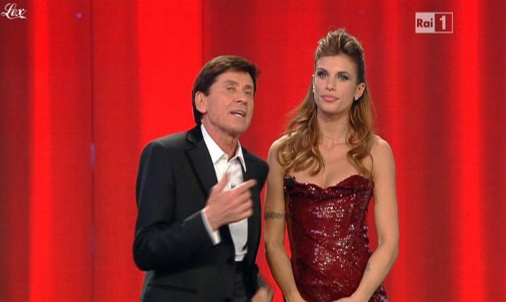Elisabetta Canalis dans San Remo. Diffusé à la télévision le 18/02/11.