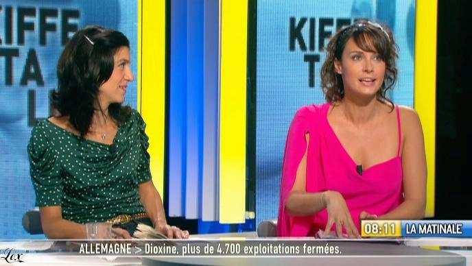 Julia Vignali dans la Matinale. Diffusé à la télévision le 07/01/11.