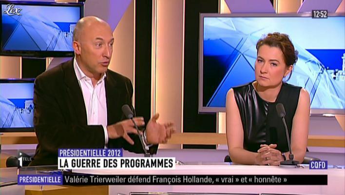 Guénaëlle Gault sur i-Télé. Diffusé à la télévision le 07/04/12.