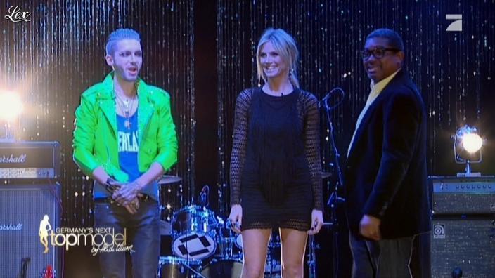 Heidi Klum dans Germany s Next Top Model. Diffusé à la télévision le 05/04/12.