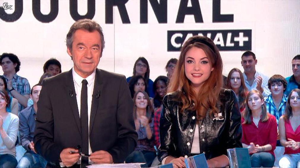Solweig Rediger-Lizlow dans le Grand Journal de Canal Plus. Diffusé à la télévision le 21/11/11.