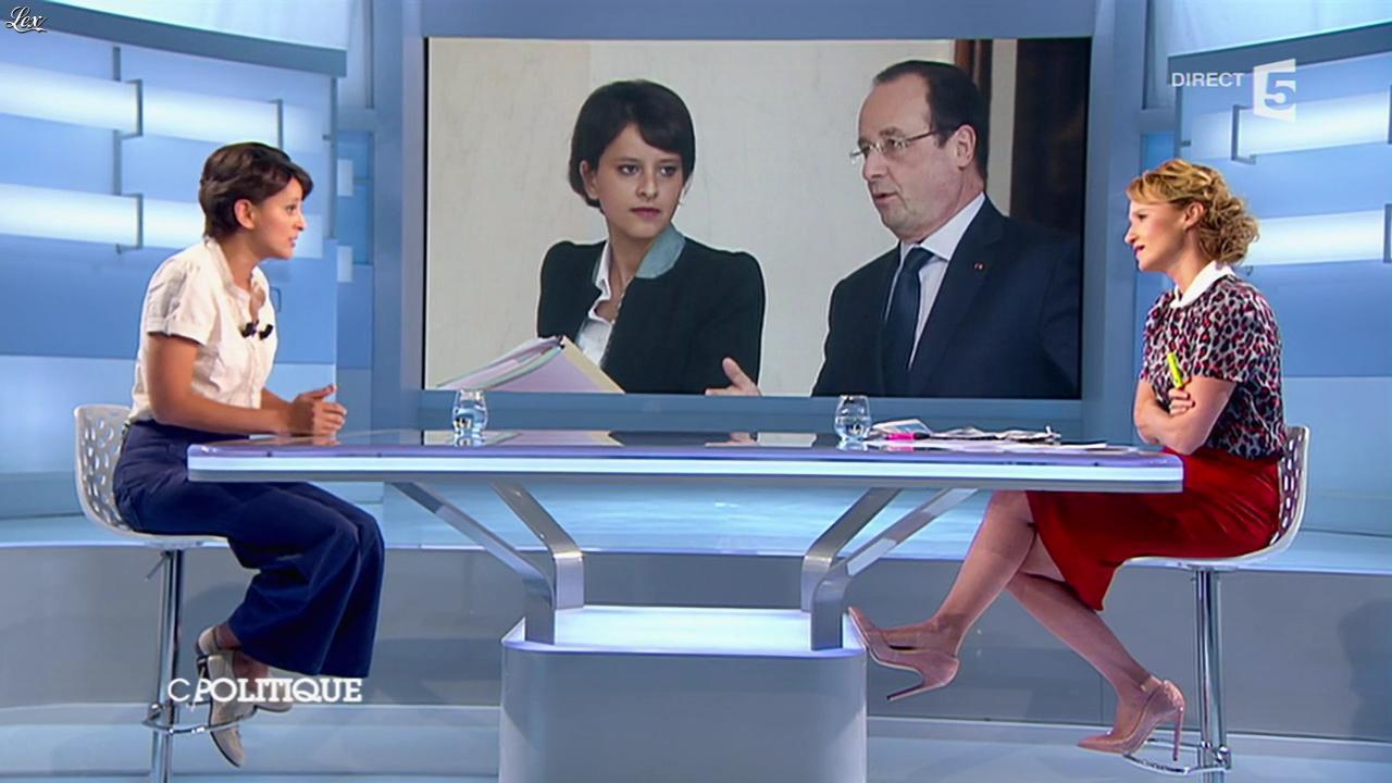 Caroline Roux dans C Politique. Diffusé à la télévision le 22/06/14.