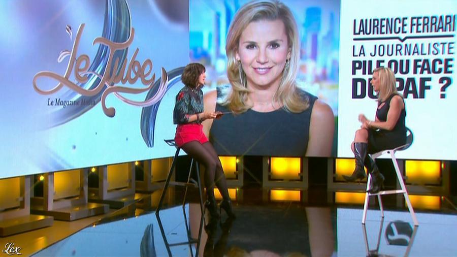 Daphné Burki et Laurence Ferrari dans le Tube. Diffusé à la télévision le 22/03/14.