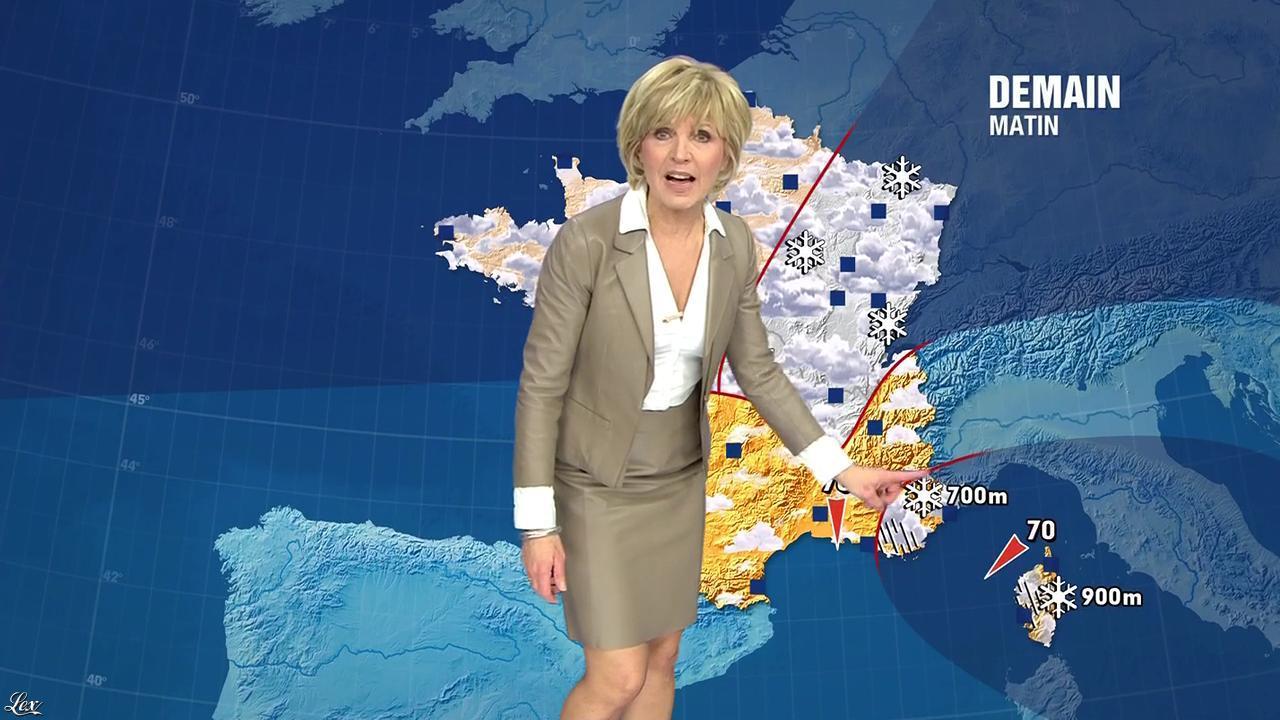 Evelyne Dhéliat à la Météo de 20h. Diffusé à la télévision le 19/01/11.