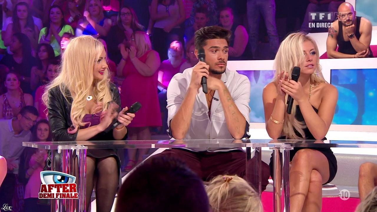 Florine et Stéphanie dans Secret Story. Diffusé à la télévision le 06/09/13.