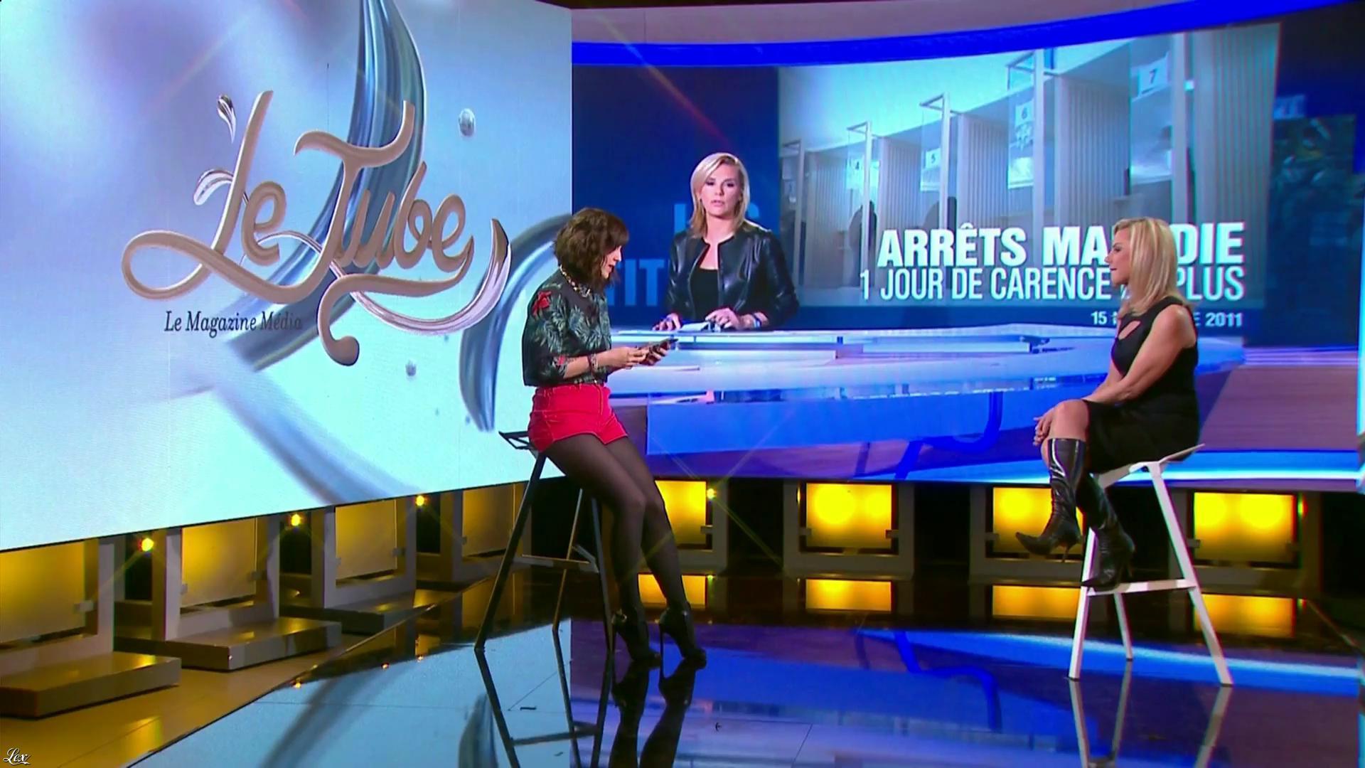 Laurence Ferrari et Daphné Burki dans le Tube. Diffusé à la télévision le 22/03/14.