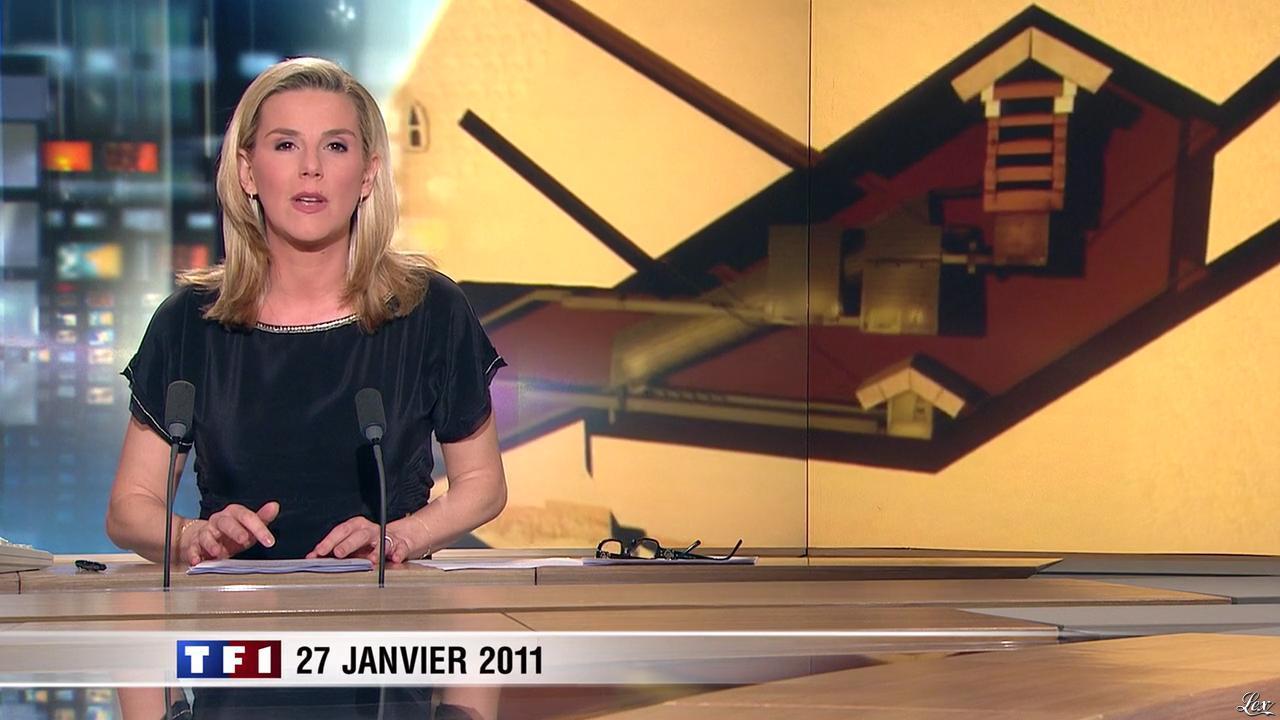 Laurence Ferrari dans le 20h. Diffusé à la télévision le 27/01/11.