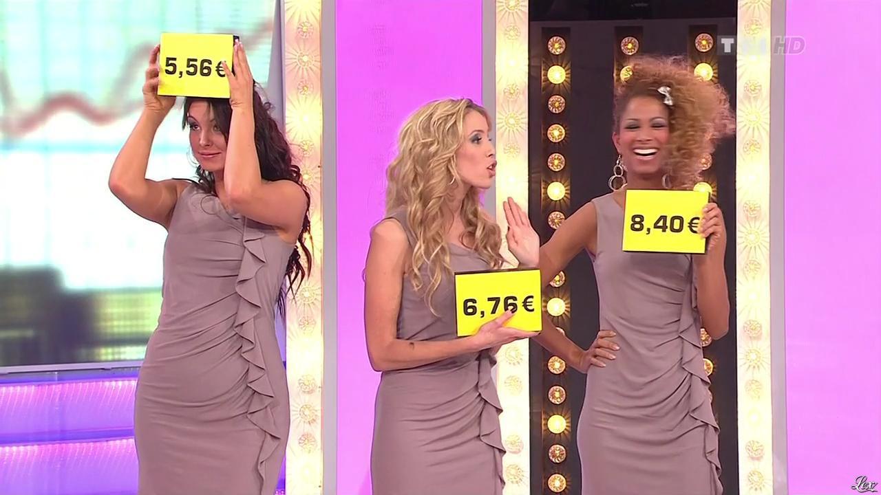 Les Gafettes, Fanny Veyrac, Doris Rouesne et Nadia Aydanne dans le Juste Prix. Diffusé à la télévision le 20/01/11.