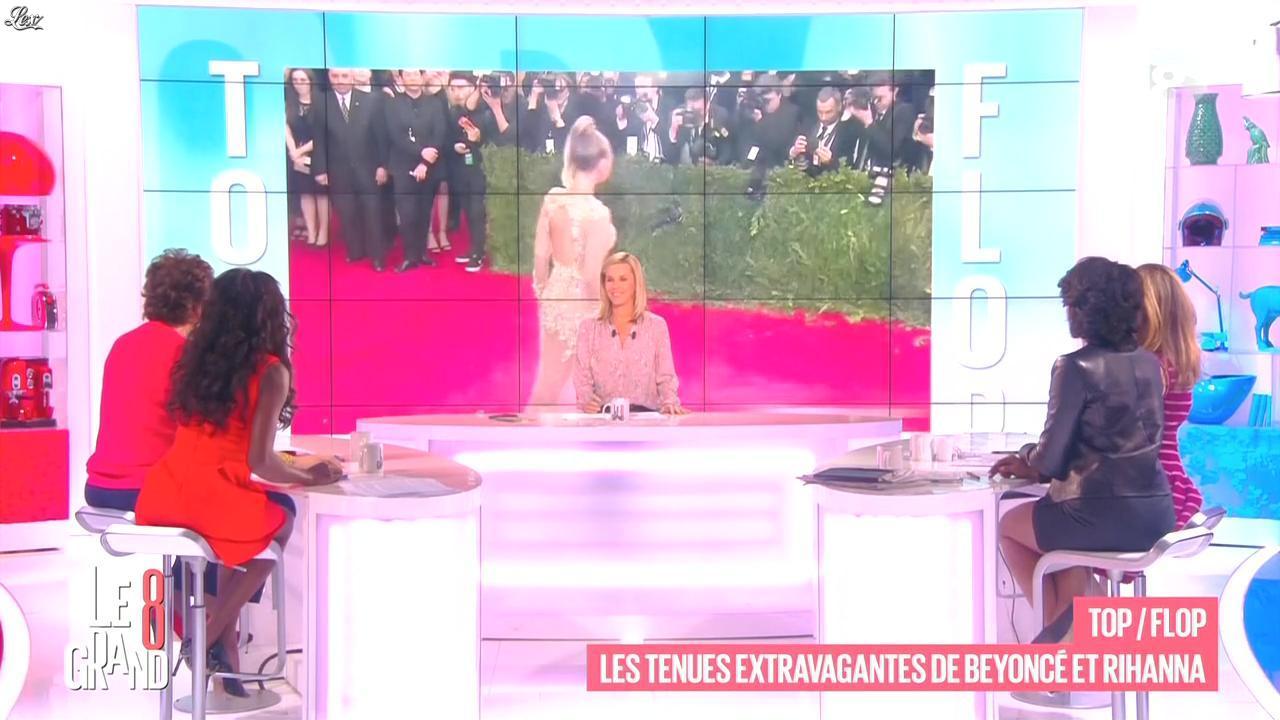 Laurence Ferrari, Hapsatou Sy et Audrey Pulvar dans le Grand 8. Diffusé à la télévision le 08/05/15.