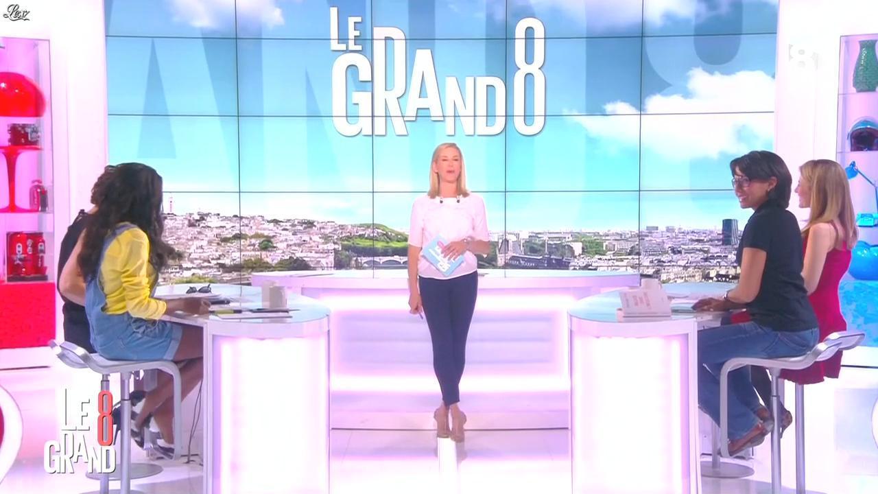 Laurence Ferrari, Hapsatou Sy et Audrey Pulvar dans le Grand 8. Diffusé à la télévision le 20/04/15.