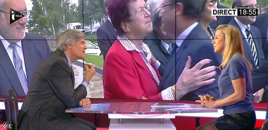 Laurence Ferrari dans Tirs Croisés. Diffusé à la télévision le 05/01/15.