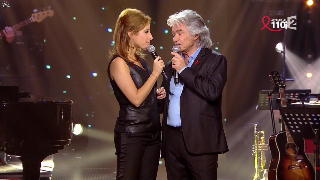 Léa Salamé dans la Télé Chante pour le Sidaction. Diffusé à la télévision le 28/03/15.