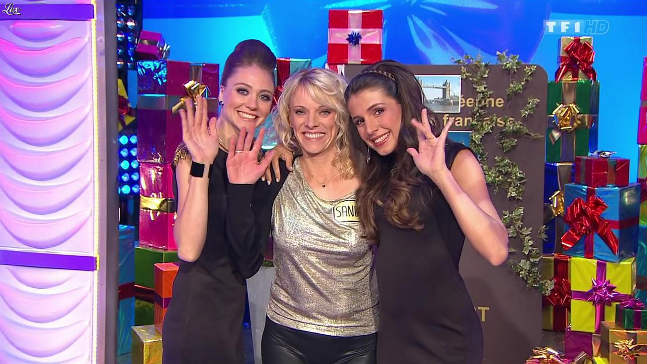 Les Gafettes, Alice Llenas, Cyrielle Joelle et Sandrine dans le Juste Prix. Diffusé à la télévision le 04/03/15.