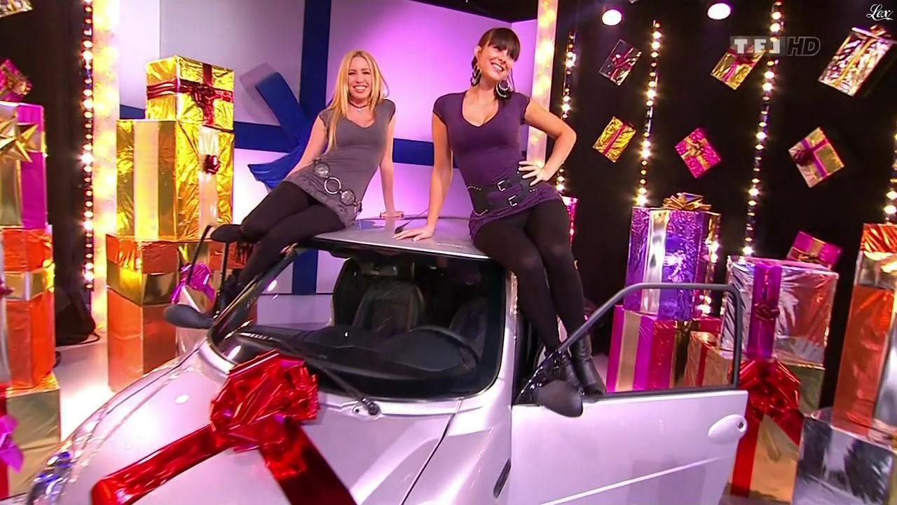 Les Gafettes, Fanny Veyrac et Nadia Aydanne dans le Juste Prix. Diffusé à la télévision le 14/01/10.