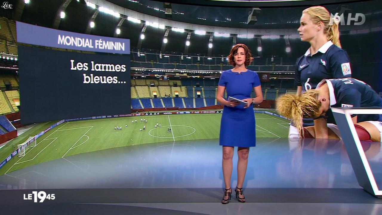 Nathalie Renoux dans le 19-45. Diffusé à la télévision le 27/06/15.