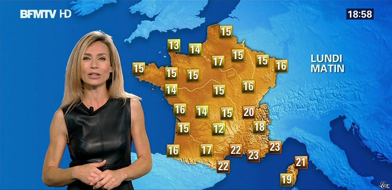 Sandra Larue à la Météo. Diffusé à la télévision le 12/07/15.
