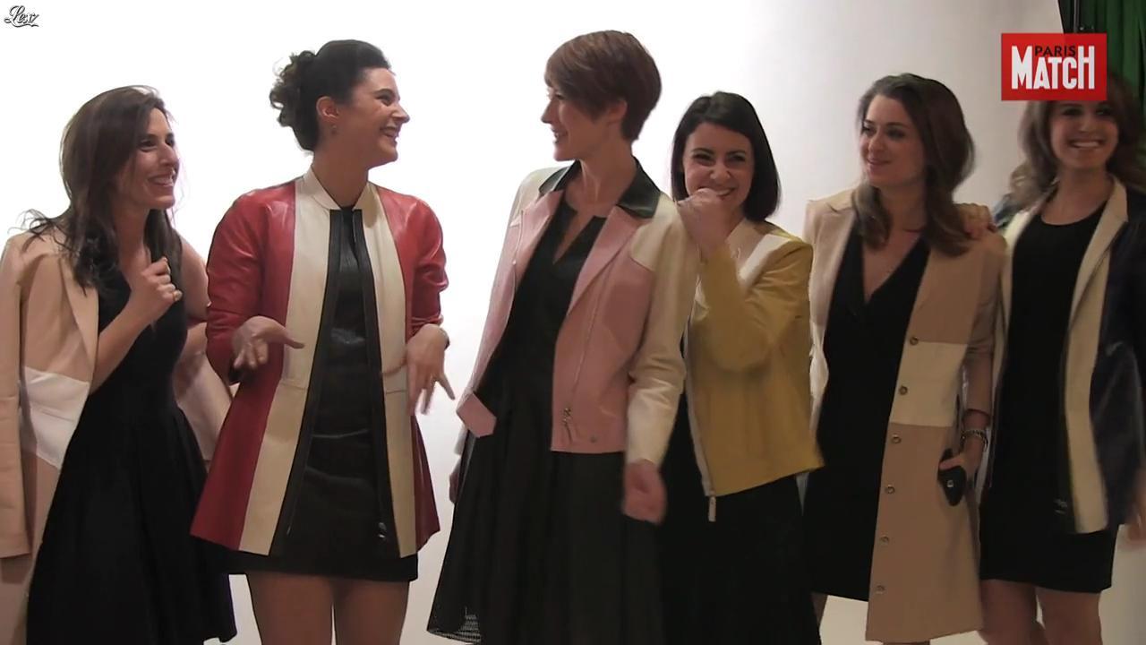Apolline de Malherbe, Fanny Agostini et Les Filles de BFM TV dans Paris Match. Diffusé à la télévision le 07/04/16.