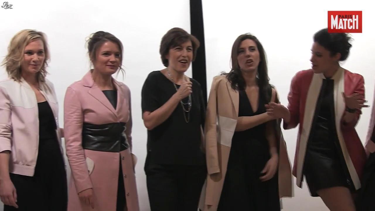 Apolline de Malherbe, Pascale de la Tour du Pin et Les Filles de BFM TV dans Paris Match. Diffusé à la télévision le 07/04/16.