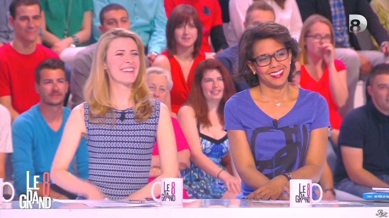 Audrey Pulvar dans le Grand 8. Diffusé à la télévision le 05/06/15.