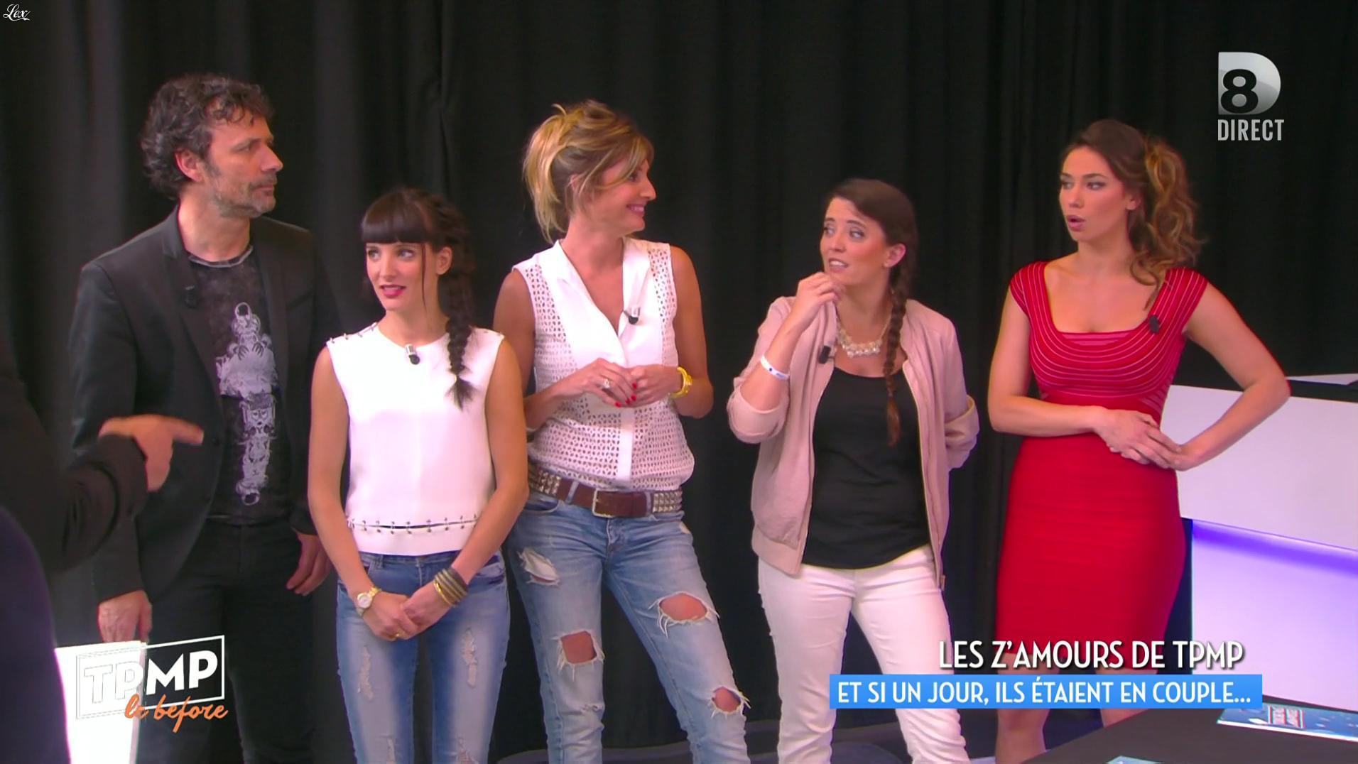 Caroline Ithurbide et Clio Pacjzer dans Touche pas à mon Poste. Diffusé à la télévision le 17/06/16.