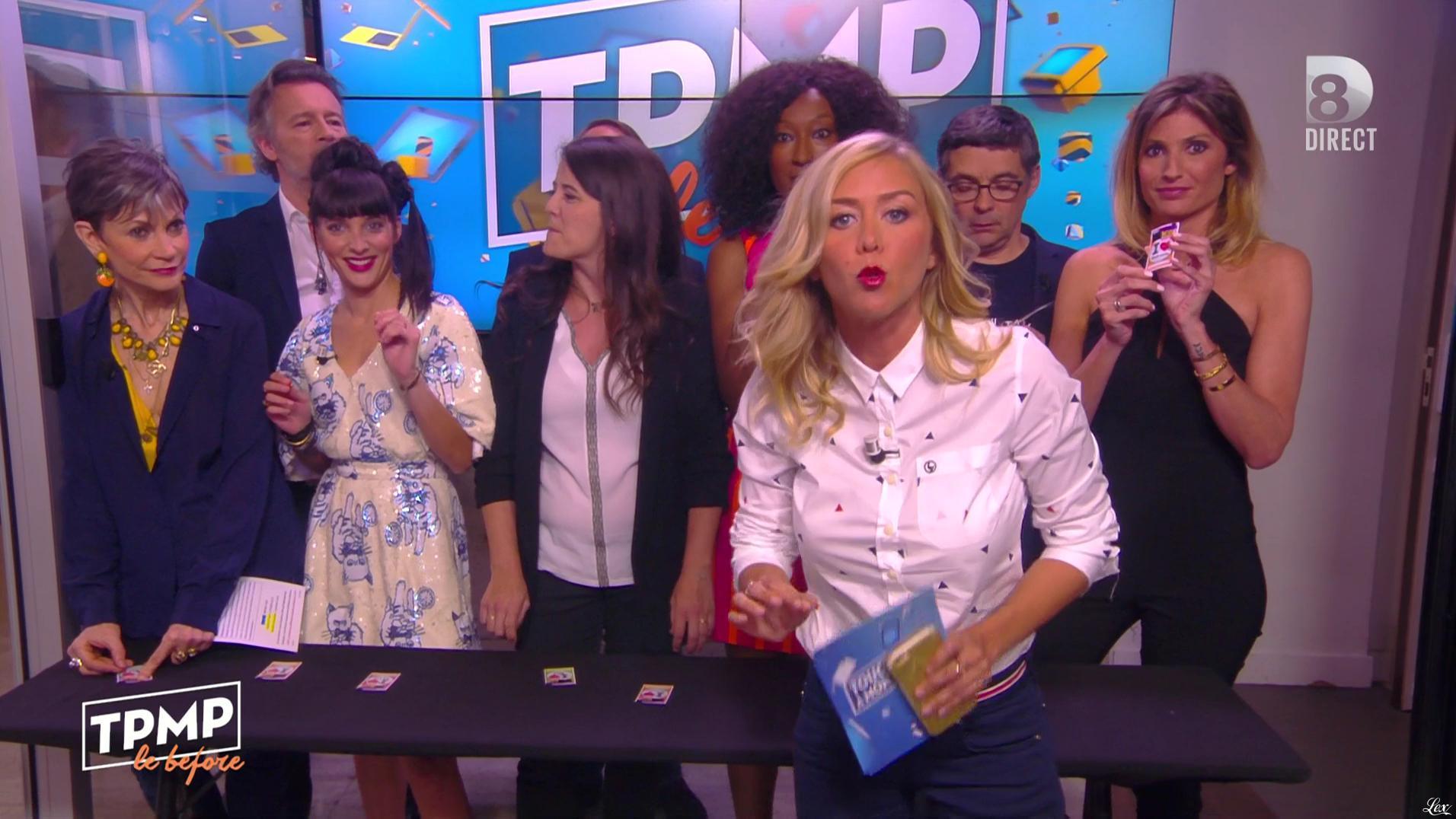 Caroline Ithurbide et Erika Moulet dans Touche pas à mon Poste. Diffusé à la télévision le 13/05/16.