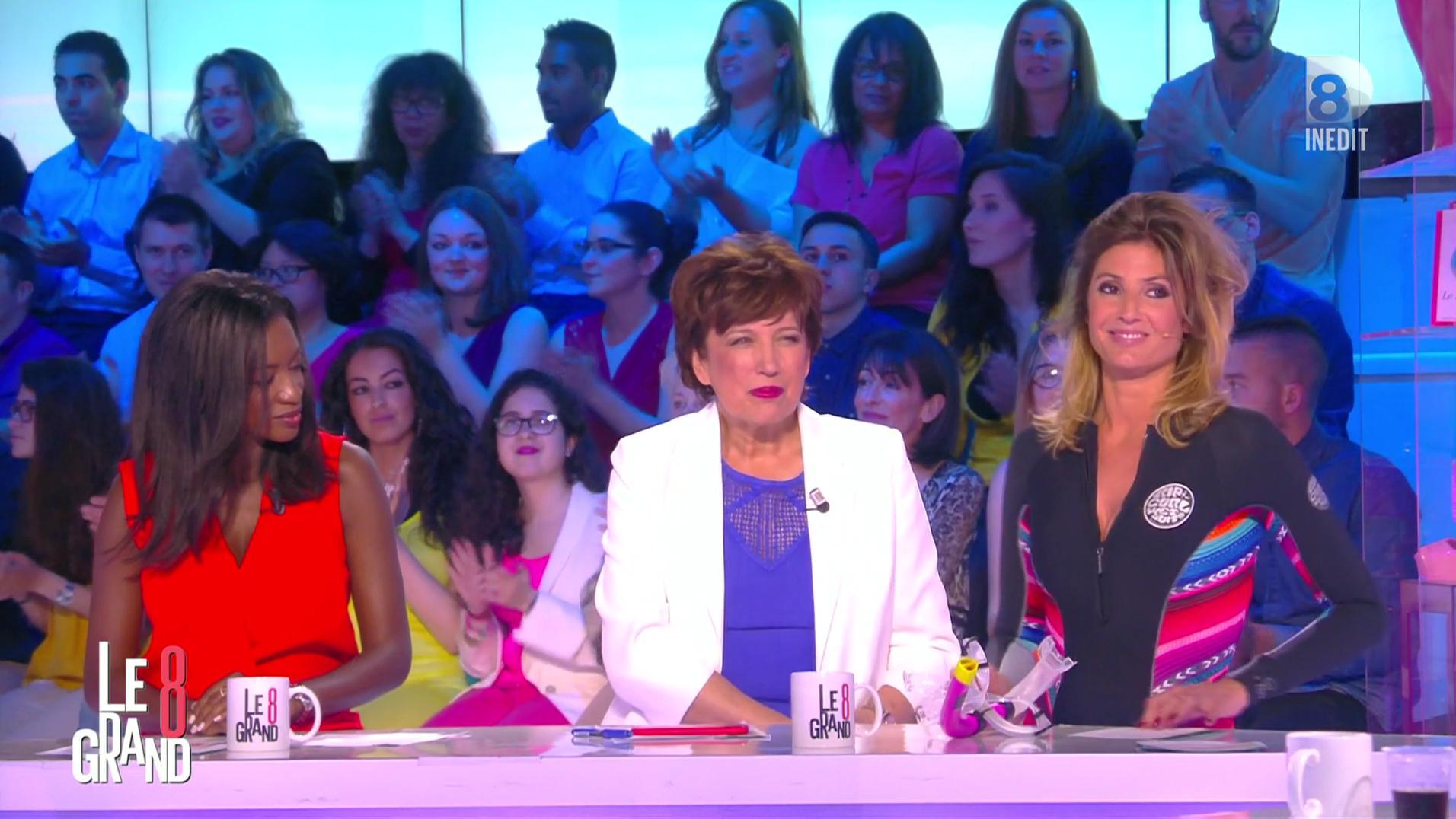 Caroline Ithurbide dans le Grand 8. Diffusé à la télévision le 10/05/16.