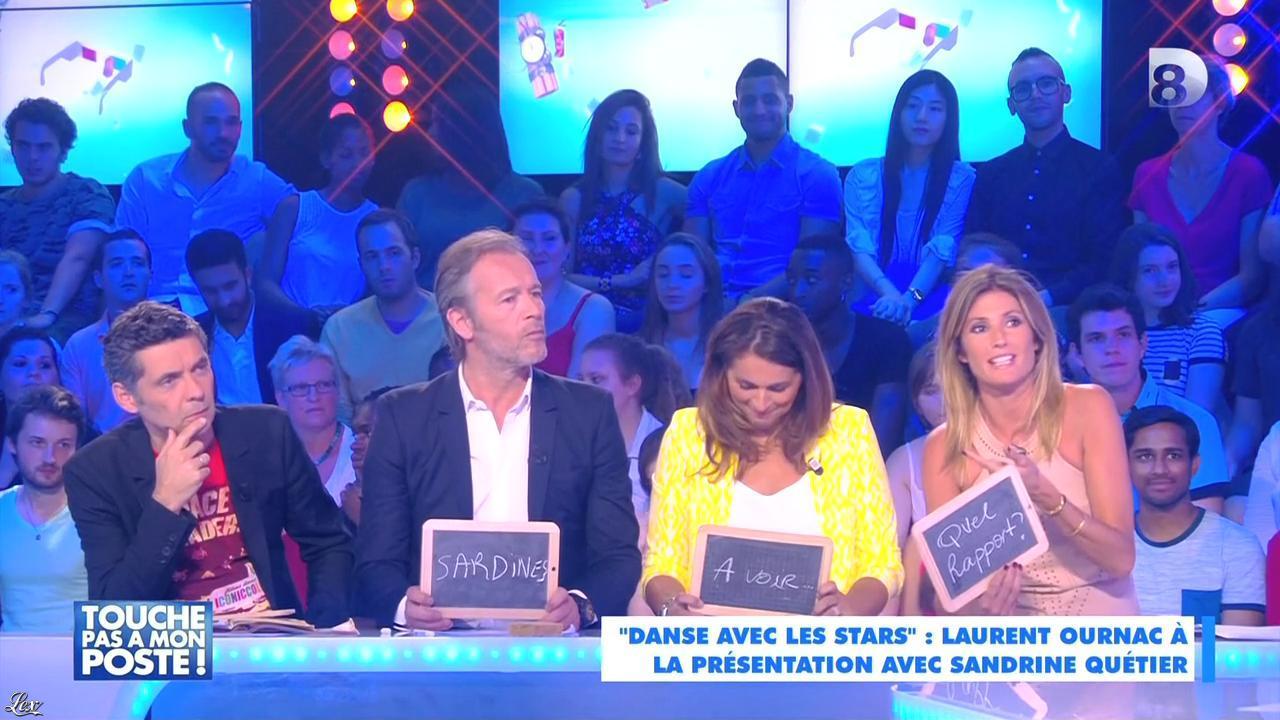 Caroline Ithurbide dans Touche pas à mon Poste. Diffusé à la télévision le 29/06/15.