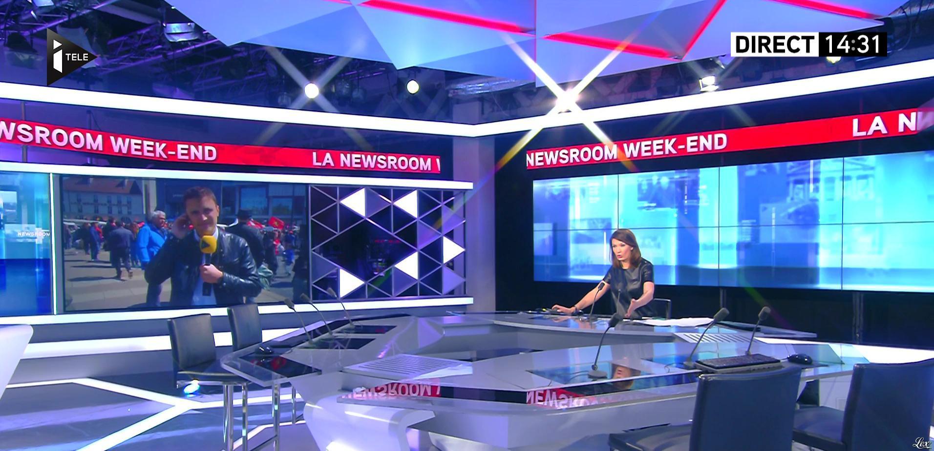 Claire-Elisabeth Beaufort dans la Newsroom. Diffusé à la télévision le 01/05/16.