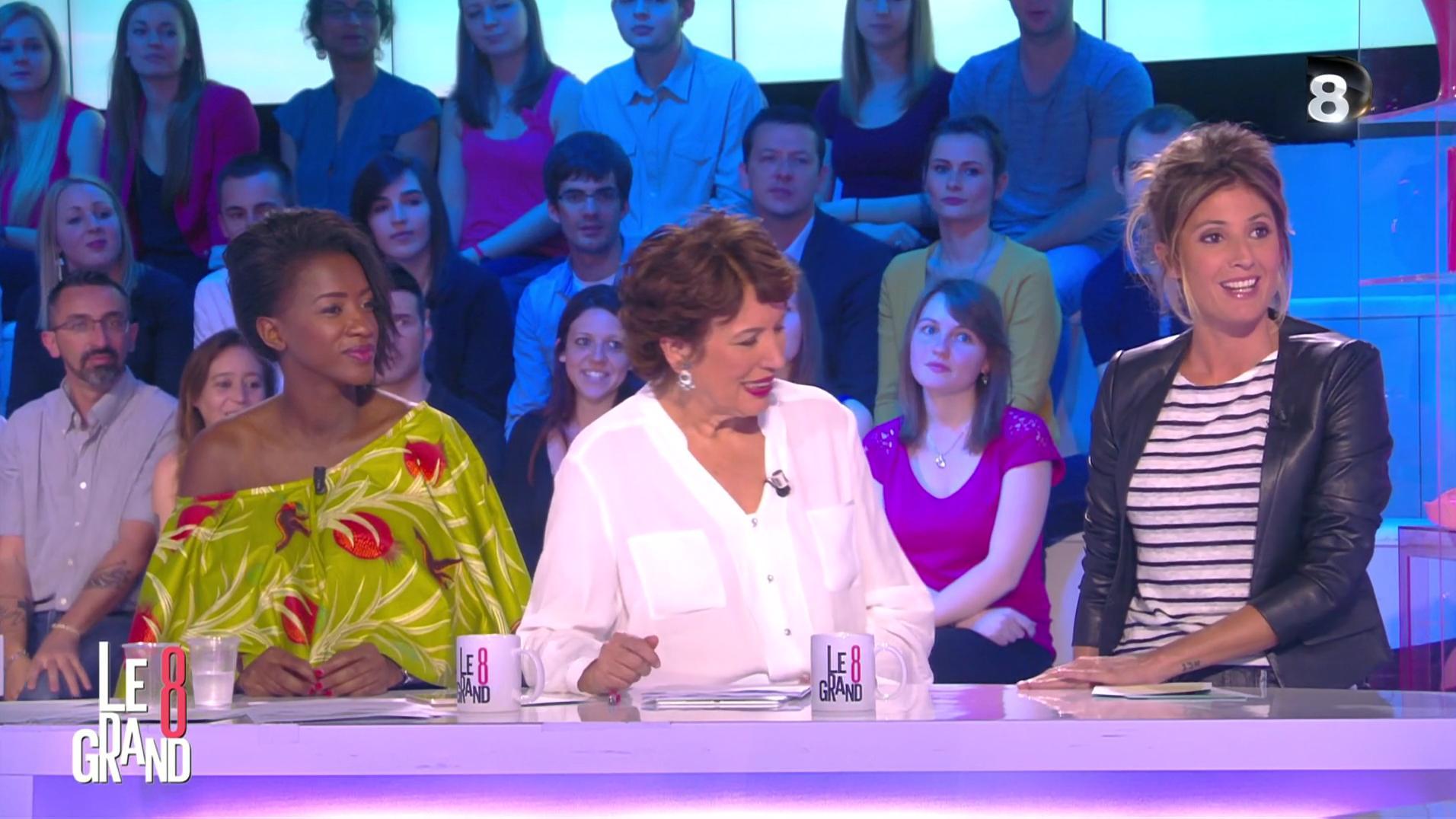 Hapsatou Sy et Caroline Ithurbide dans le Grand 8. Diffusé à la télévision le 17/06/16.