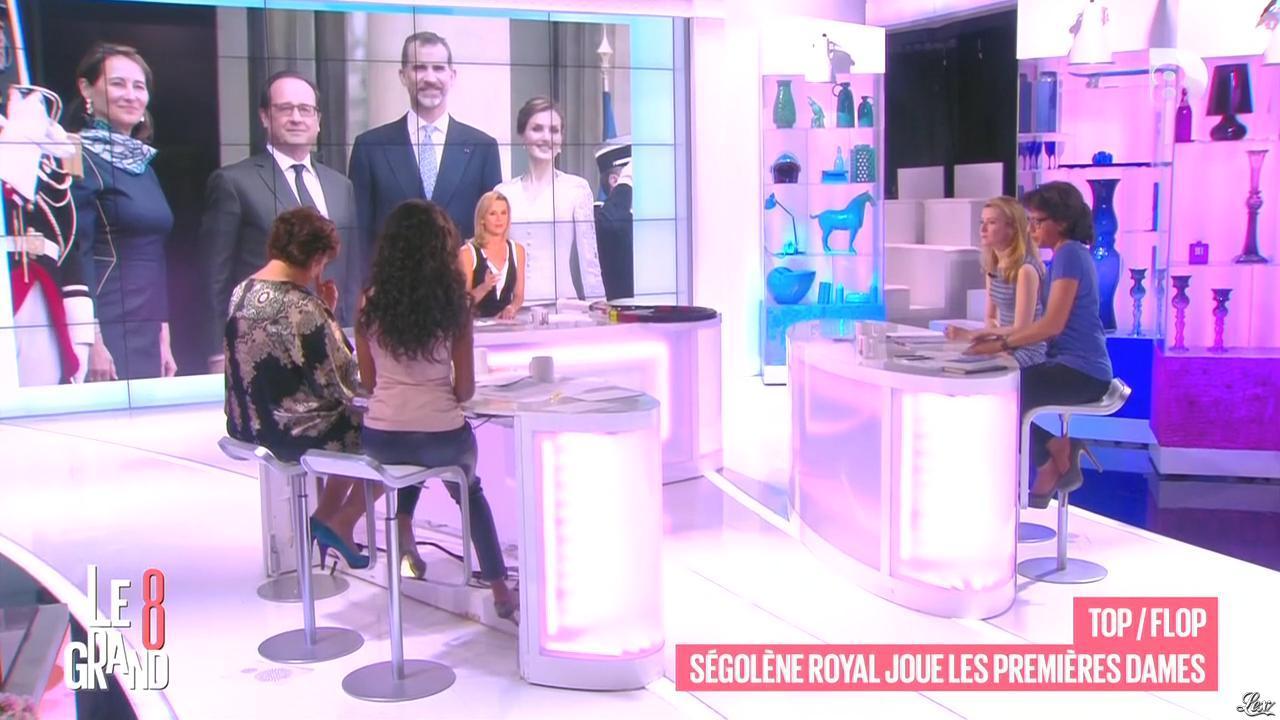 Laurence Ferrari, Hapsatou Sy et Audrey Pulvar dans le Grand 8. Diffusé à la télévision le 05/06/15.