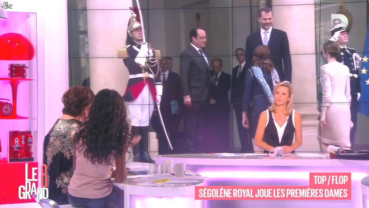 Laurence Ferrari et Hapsatou Sy dans le Grand 8. Diffusé à la télévision le 05/06/15.