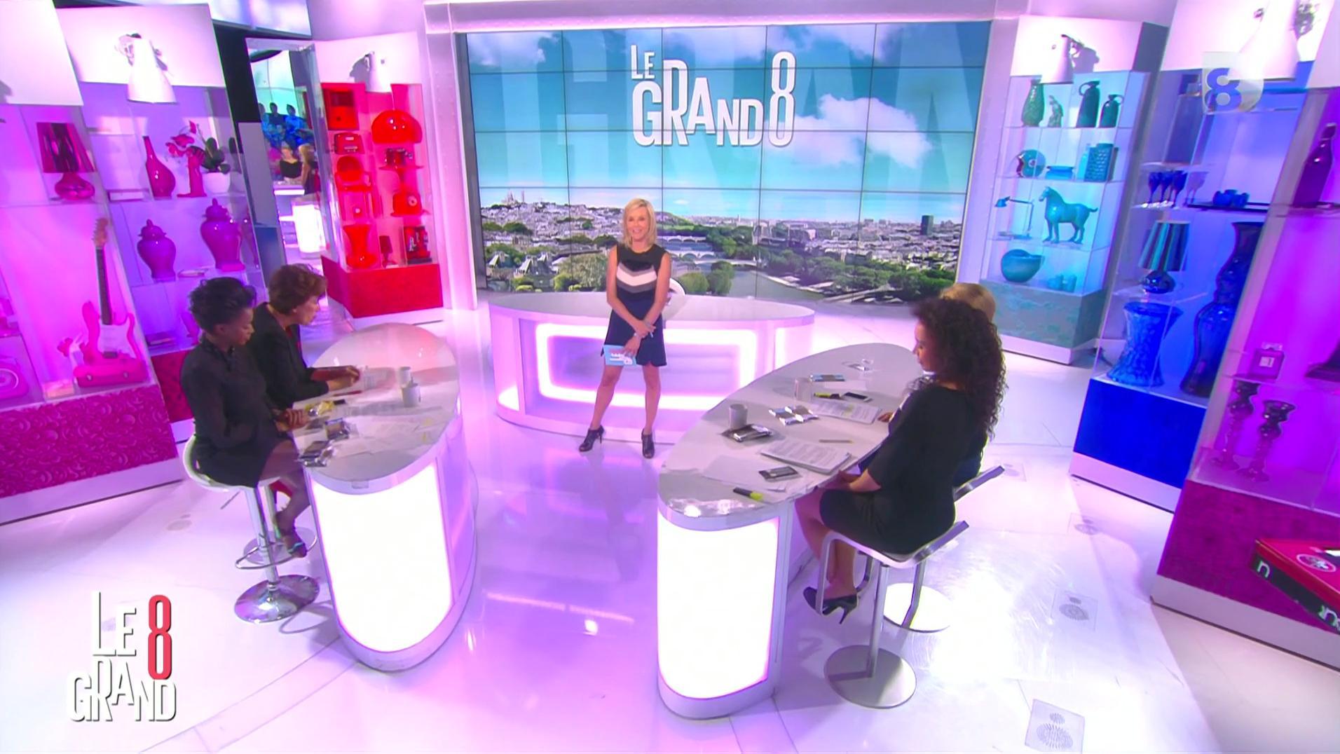 Laurence Ferrari et Hapsatou Sy dans le Grand 8. Diffusé à la télévision le 17/06/16.