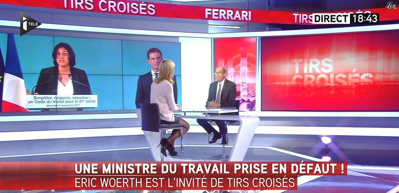 Laurence Ferrari dans Tirs Croisés. Diffusé à la télévision le 05/11/15.