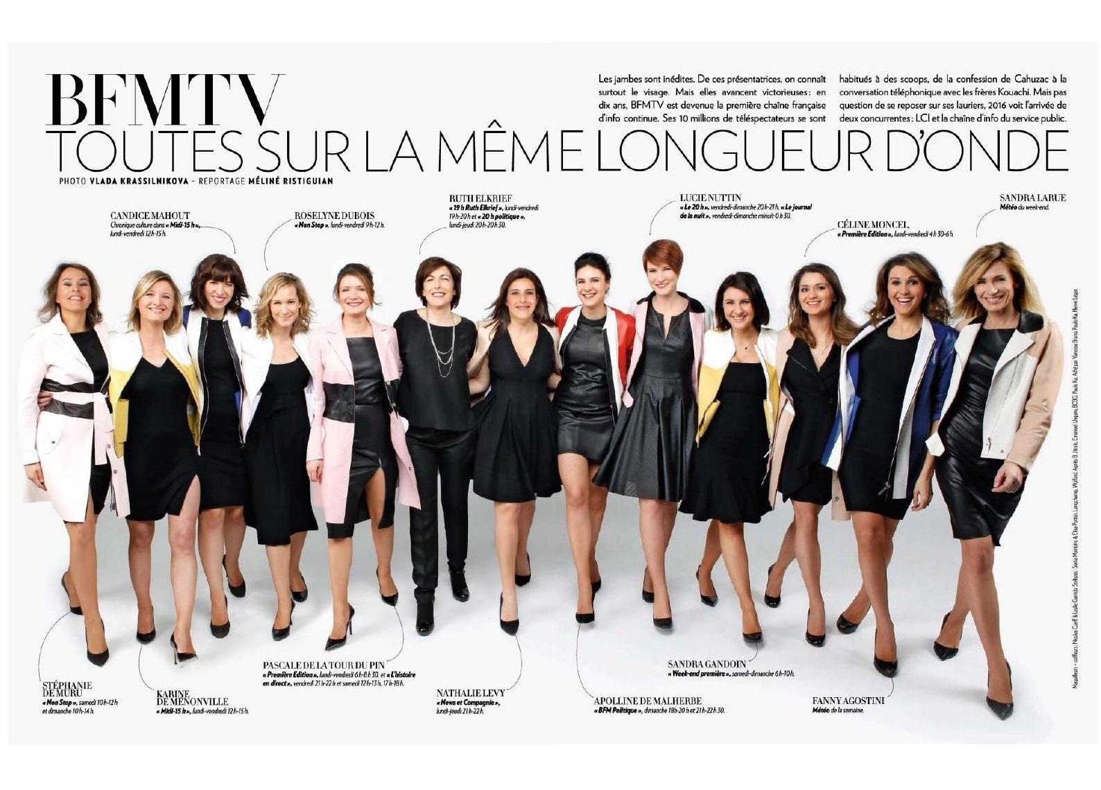 Les Filles de BFM TV - Paris Match - Avril 2016