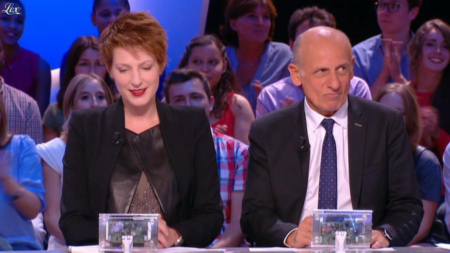 Natacha Polony dans le Grand Journal de Canal Plus. Diffusé à la télévision le 29/08/14.
