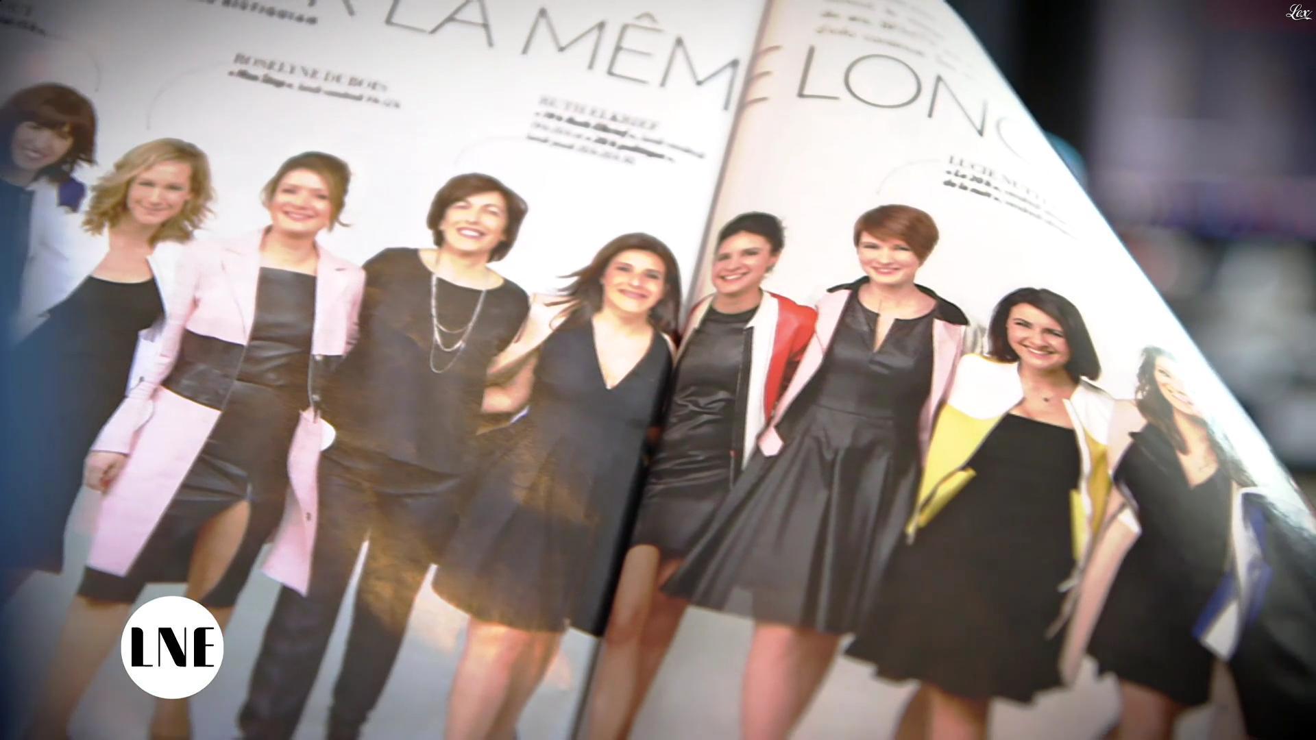 Pascale De La Tour Du Pin, Apolline De Malherbe et Lucie Nuttin dans la Nouvelle Edition. Diffusé à la télévision le 07/04/16.