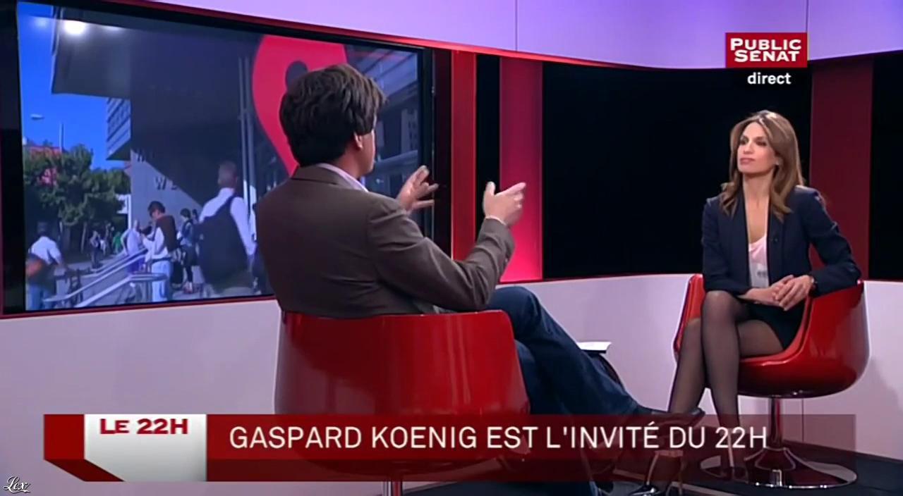 Sonia Mabrouk dans le 22h. Diffusé à la télévision le 02/04/15.