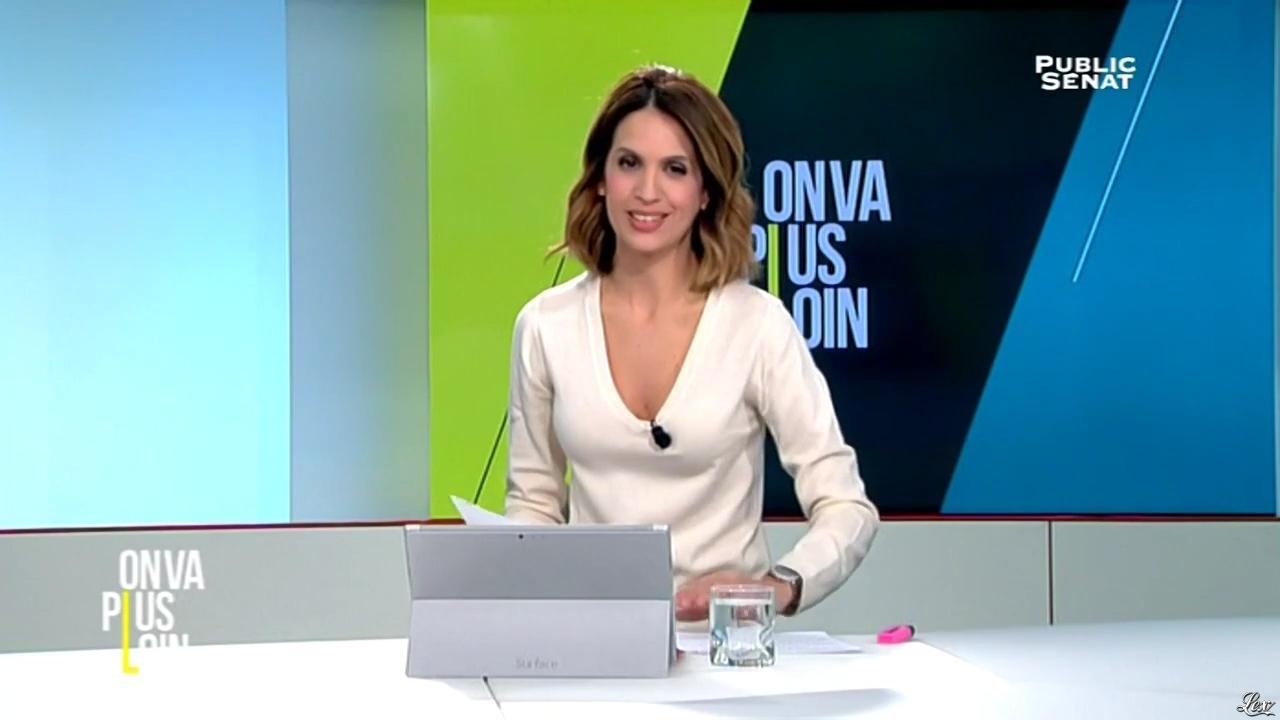 Sonia Mabrouk dans On Va Plus Loin. Diffusé à la télévision le 25/11/15.