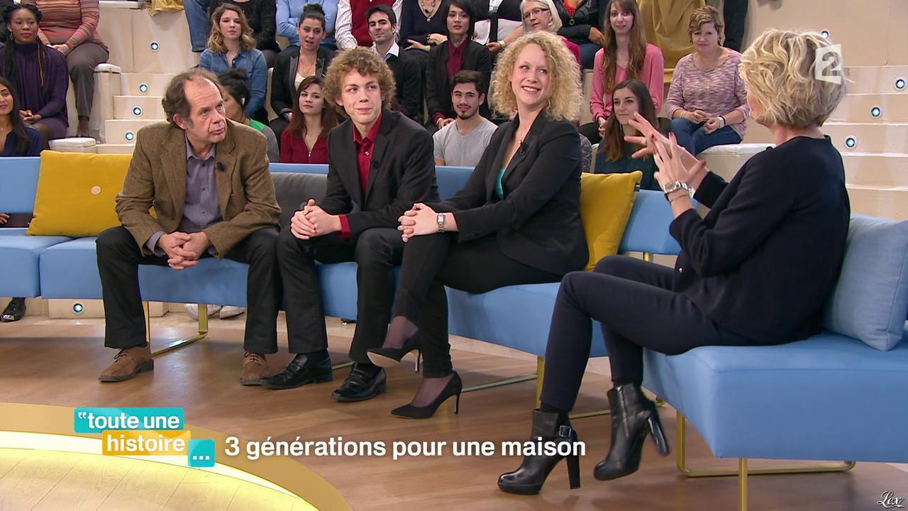 Sophie Davant dans Toute une Histoire. Diffusé à la télévision le 06/01/16.