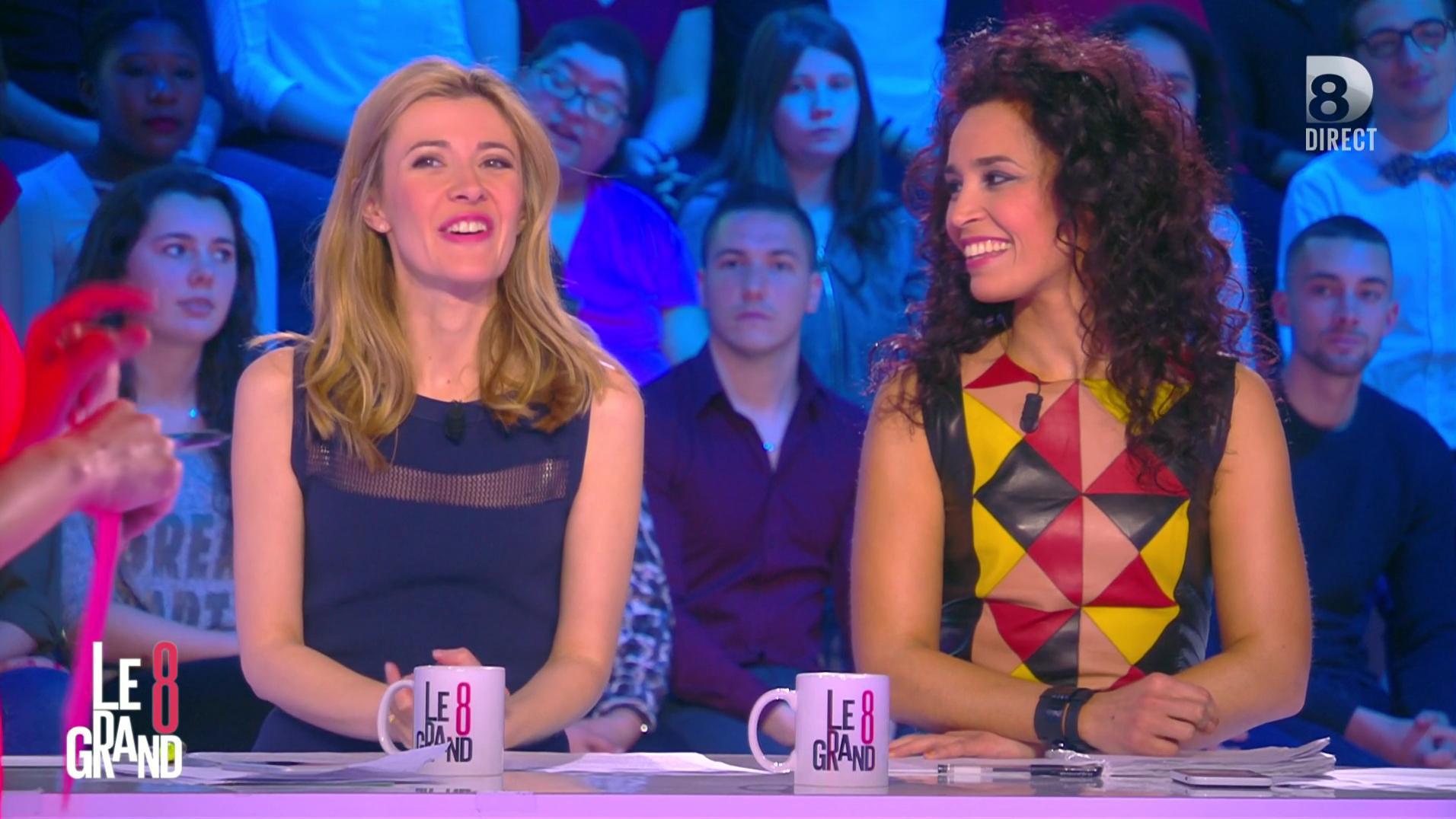 Aïda Touihri et Elisabeth Bost dans le Grand 8. Diffusé à la télévision le 20/04/16.