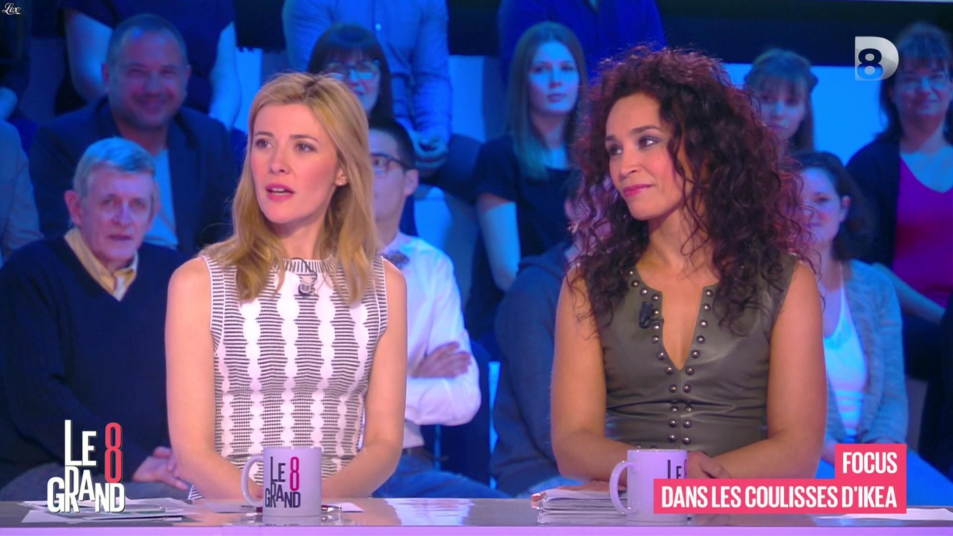 Aïda Touihri et Elisabeth Bost dans le Grand 8. Diffusé à la télévision le 22/04/16.