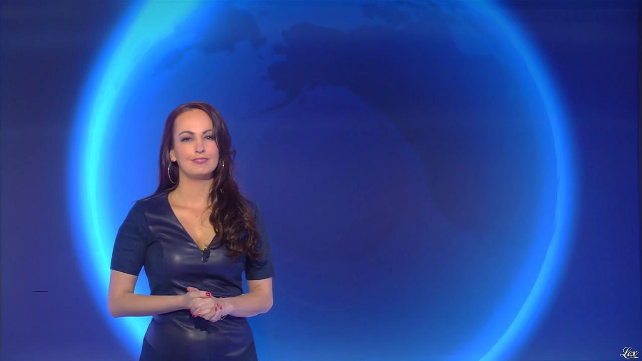 Alexandra Blanc à la Météo de i>Télé. Diffusé à la télévision le 13/03/17.