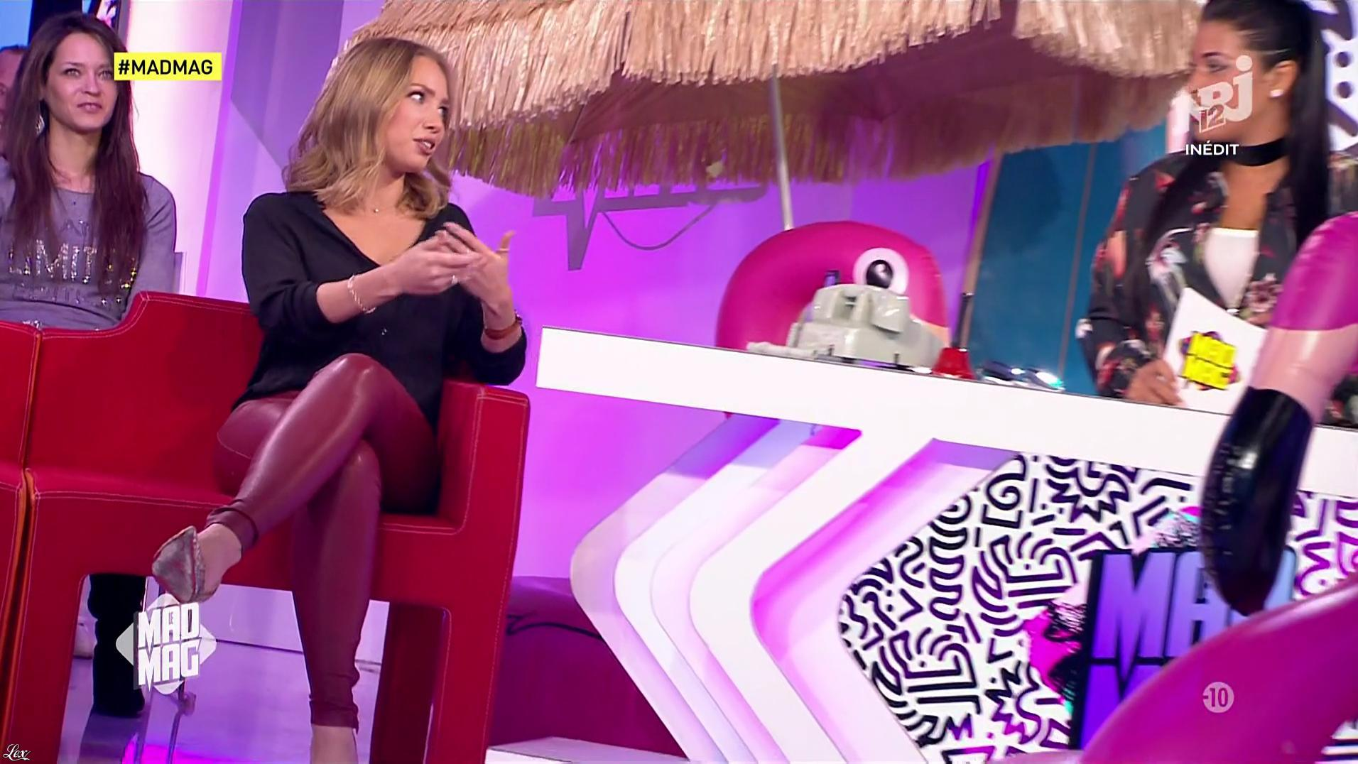 Ayem Nour et Anastasiya dans le Mad Mag. Diffusé à la télévision le 17/01/17.