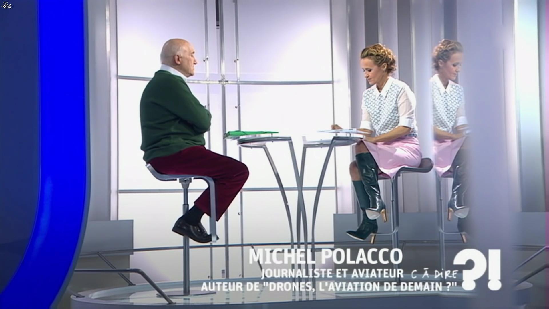 Caroline Roux dans C à Dire. Diffusé à la télévision le 27/02/15.